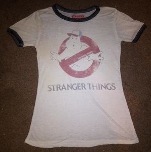 Stranger things women's Ghostbusters shirt